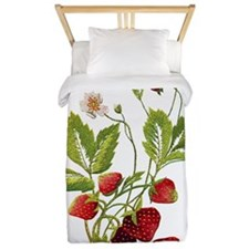 STRAWBERRIES_Embroidery copy.png Twin Duvet