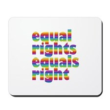 rainbow equal rights Mousepad