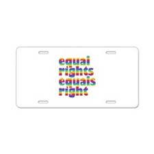 rainbow equal rights Aluminum License Plate