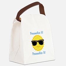 PERSONALIZED Cute Sunglasses Sun Canvas Lunch Bag