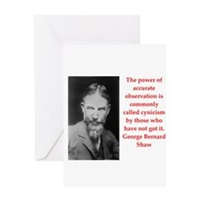george bernard shaw quote Greeting Card