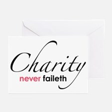 Chartiy Never Faileth Greeting Cards (Pk of 10