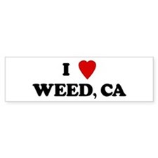 I Love WEED Bumper Bumper Sticker