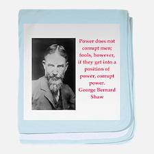 george bernard shaw quote baby blanket