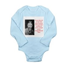 george bernard shaw quote Long Sleeve Infant Bodys