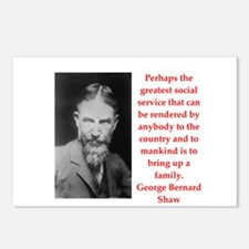 george bernard shaw quote Postcards (Package of 8)