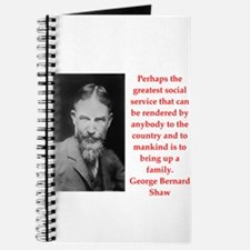 george bernard shaw quote Journal