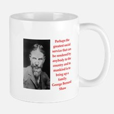 george bernard shaw quote Mug