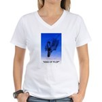 king of plop with text Women's V-Neck T-Shirt