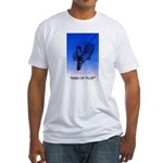 king of plop with text Fitted T-Shirt