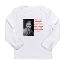 george bernard shaw quote Long Sleeve Infant T-Shi