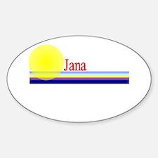 Jana Oval Decal