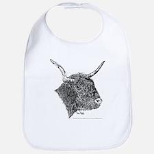 Bull Pen and Ink Baby Bib w