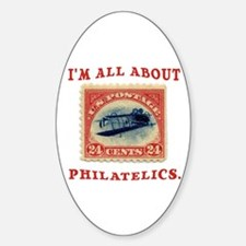 I'm All About Philatelics Oval Decal