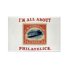 I'm All About Philatelics Rectangle Magnet