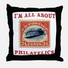I'm All About Philatelics Throw Pillow