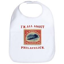 I'm All About Philatelics Bib