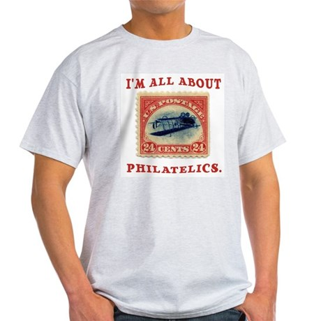 I'm All About Philatelics Ash Grey T-Shirt