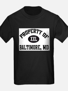 Property of Baltimore Ash Grey T-Shirt