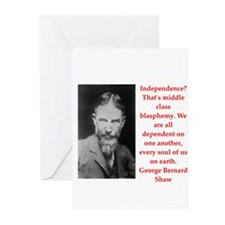 george bernard shaw quote Greeting Cards (Pk of 20