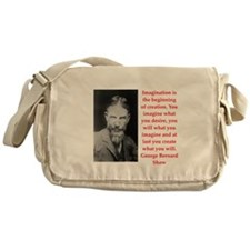 george bernard shaw quote Messenger Bag