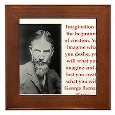 george bernard shaw quote Framed Tile