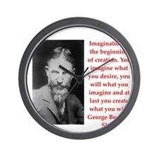 george bernard shaw quote Wall Clock
