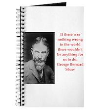george bernard shaw quote Journal