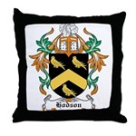 Hodson Coat of Arms Throw Pillow