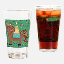 Horsin' Around Drinking Glass