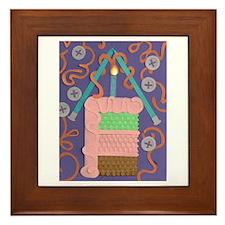 Knitted Wishes Framed Tile