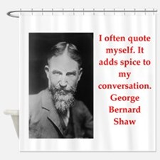 george bernard shaw quote Shower Curtain