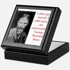 george bernard shaw quote Keepsake Box