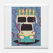 RV Birthday Tile Coaster