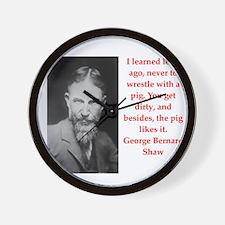 george bernard shaw quote Wall Clock