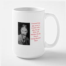 george bernard shaw quote Large Mug