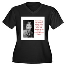 george bernard shaw quote Women's Plus Size V-Neck