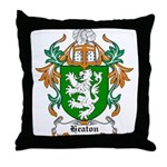 Heaton Coat of Arms Throw Pillow