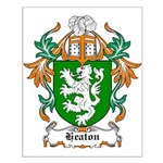 Heaton Coat of Arms Small Poster