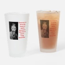 george bernard shaw quote Drinking Glass