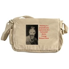 george bernard shaw quote Messenger Bag