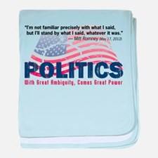 Political Power baby blanket