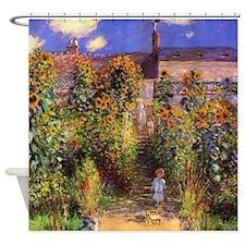 Monet Seine Bank At Vetheuil Shower Curtain