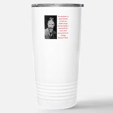 george bernard shaw quote Travel Mug