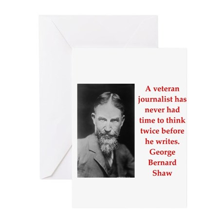 george bernard shaw quote Greeting Cards (Pk of 10