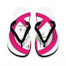 Sparkle Peace Flip Flops