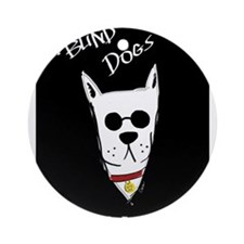 Blind Dogs Ornament (Round)