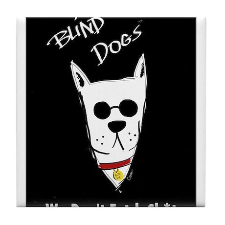 Blind Dogs Tile Coaster