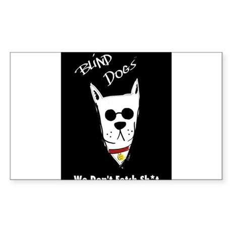 Blind Dogs Sticker (Rectangle)