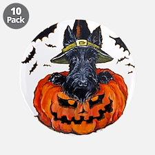"Scottie Witch 3.5"" Button (10 pack)"